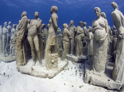 Cancun Sculpture Museum Diving