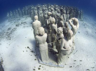 Underwater Museum Dive in Cancun